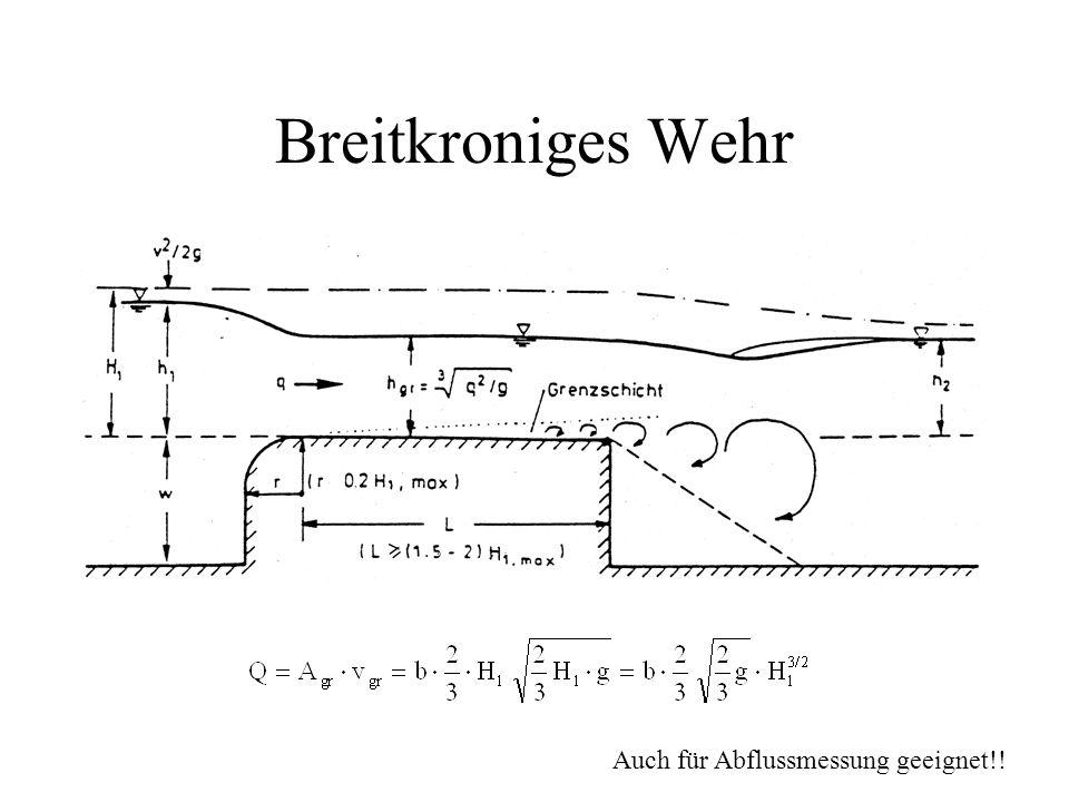 Breitkroniges Wehr Auch für Abflussmessung geeignet!!