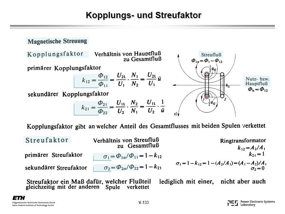 Kopplungs- und Streufaktor
