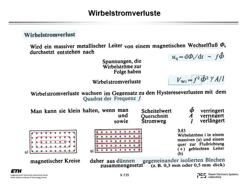 Wirbelstromverluste ~ V-139