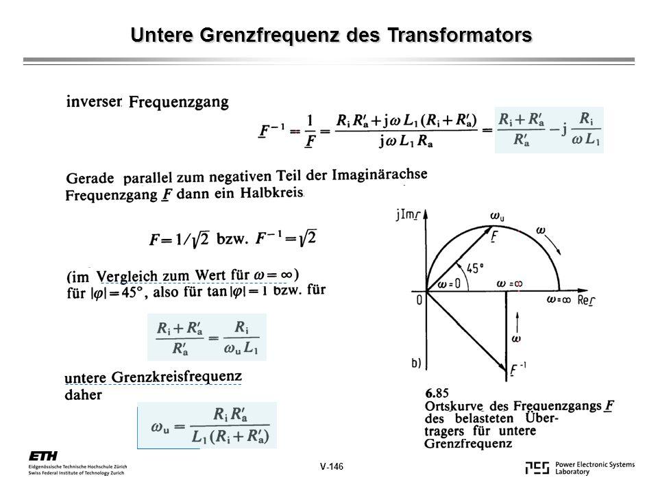 Untere Grenzfrequenz des Transformators