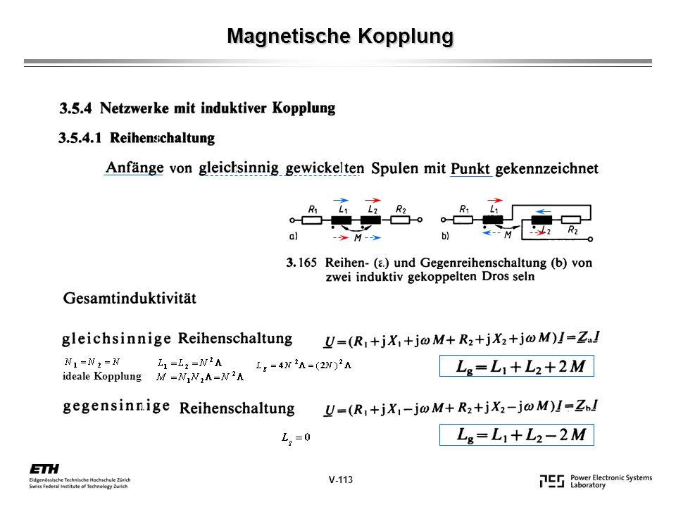 Magnetische Kopplung ideale Kopplung V-113