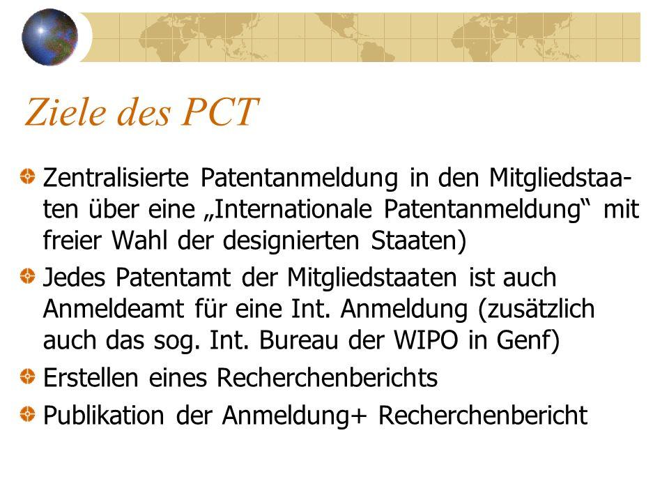 Ziele des PCT