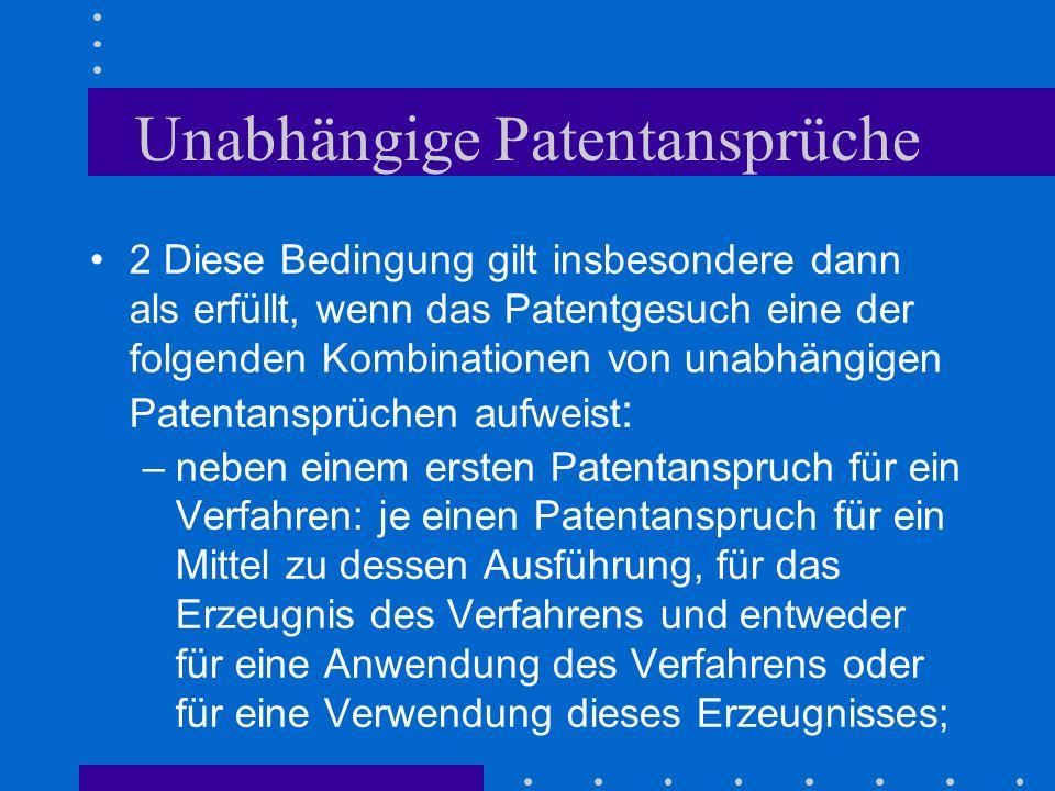 Unabhängige Patentansprüche