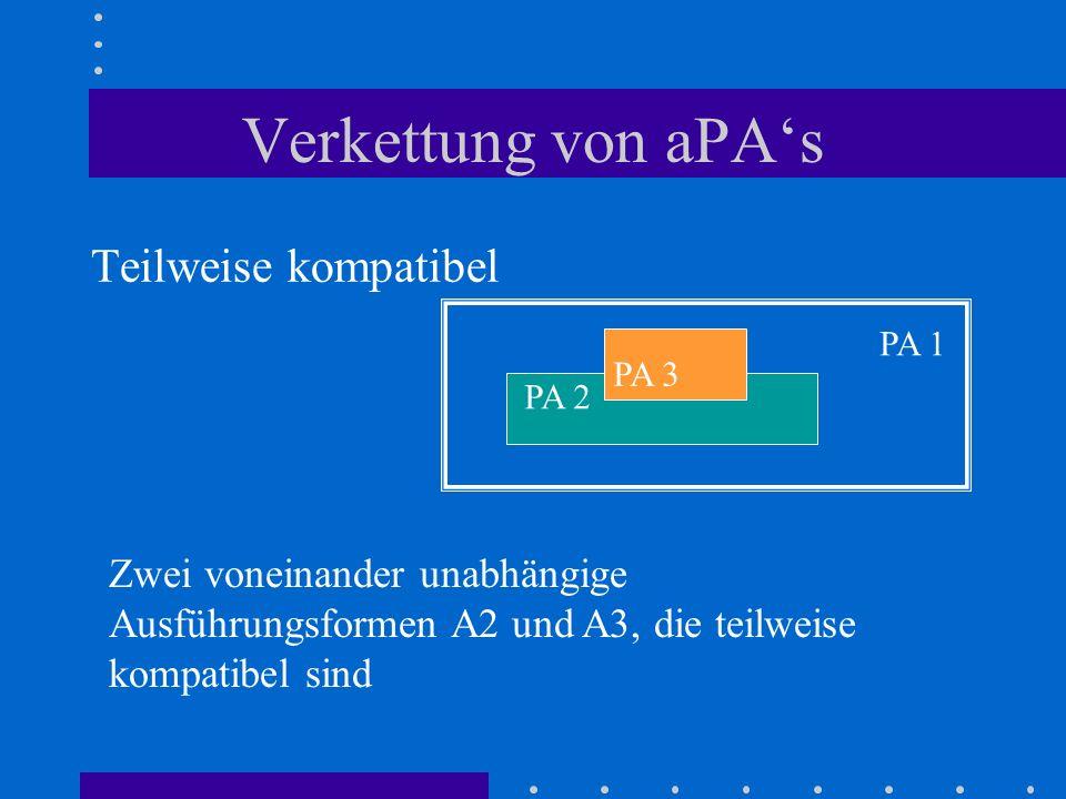 Verkettung von aPA's Teilweise kompatibel