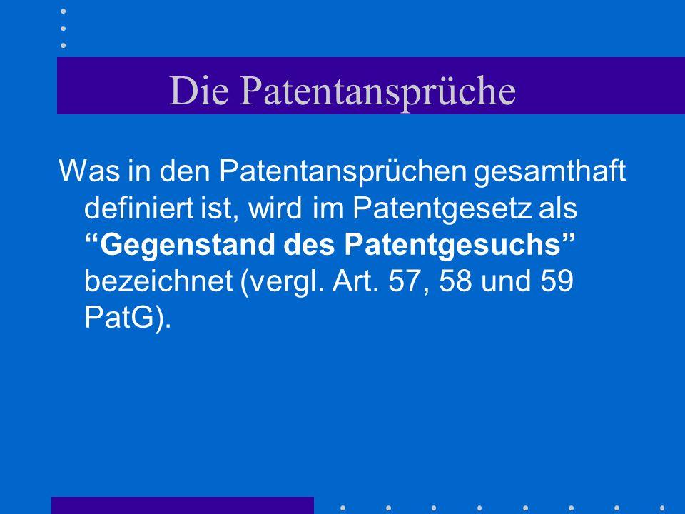 Die Patentansprüche