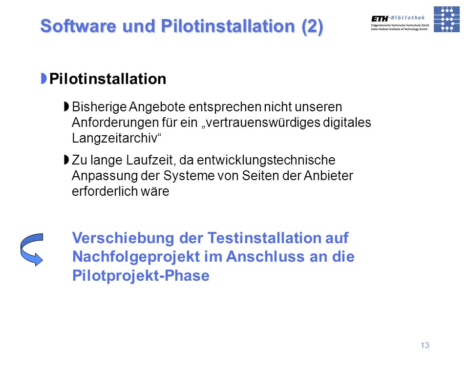 Software und Pilotinstallation (2)