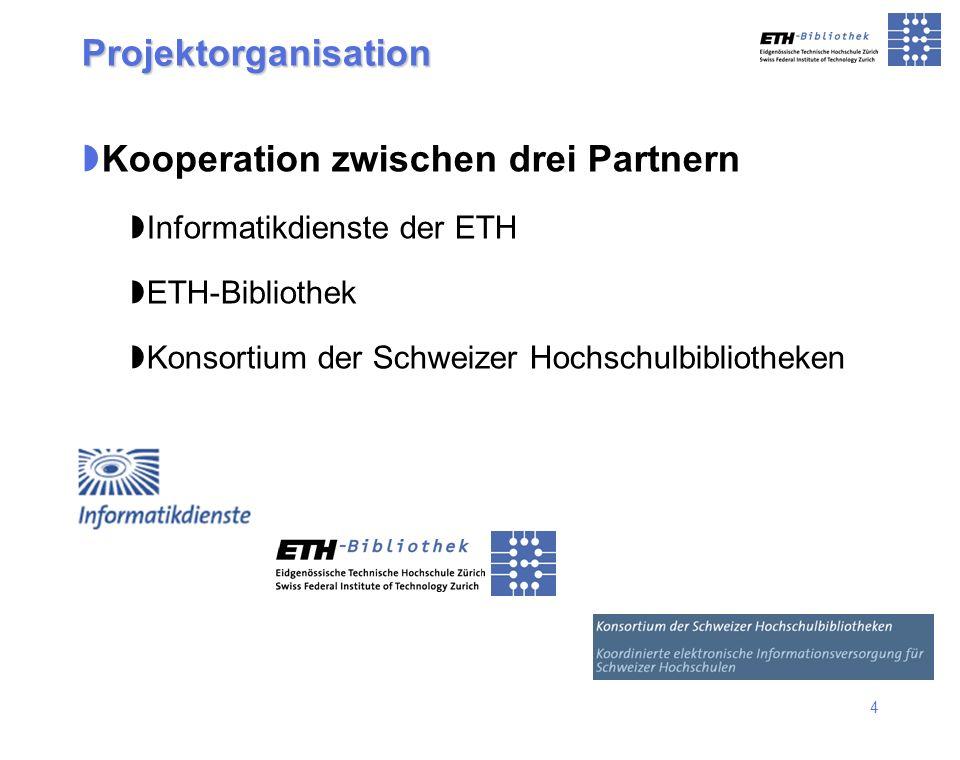Kooperation zwischen drei Partnern