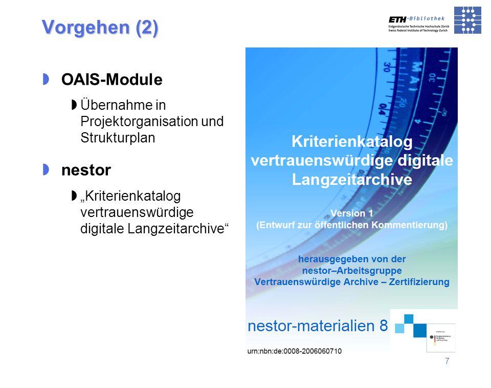 Vorgehen (2) OAIS-Module nestor