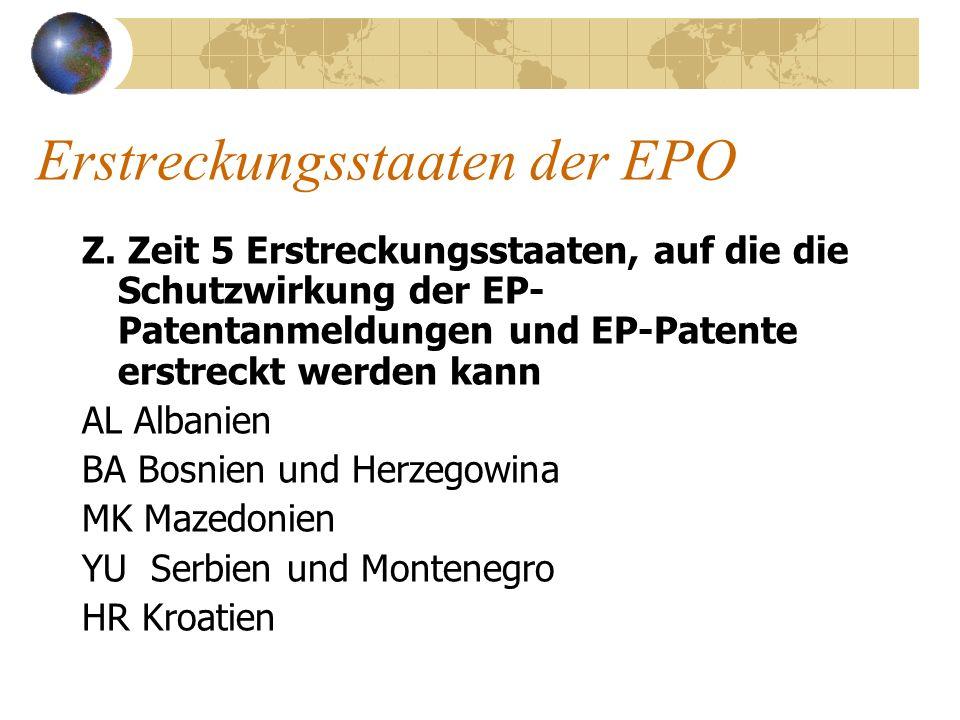 Erstreckungsstaaten der EPO