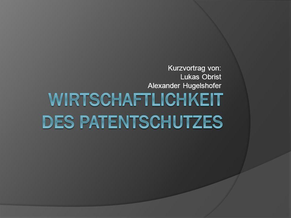 Wirtschaftlichkeit des Patentschutzes