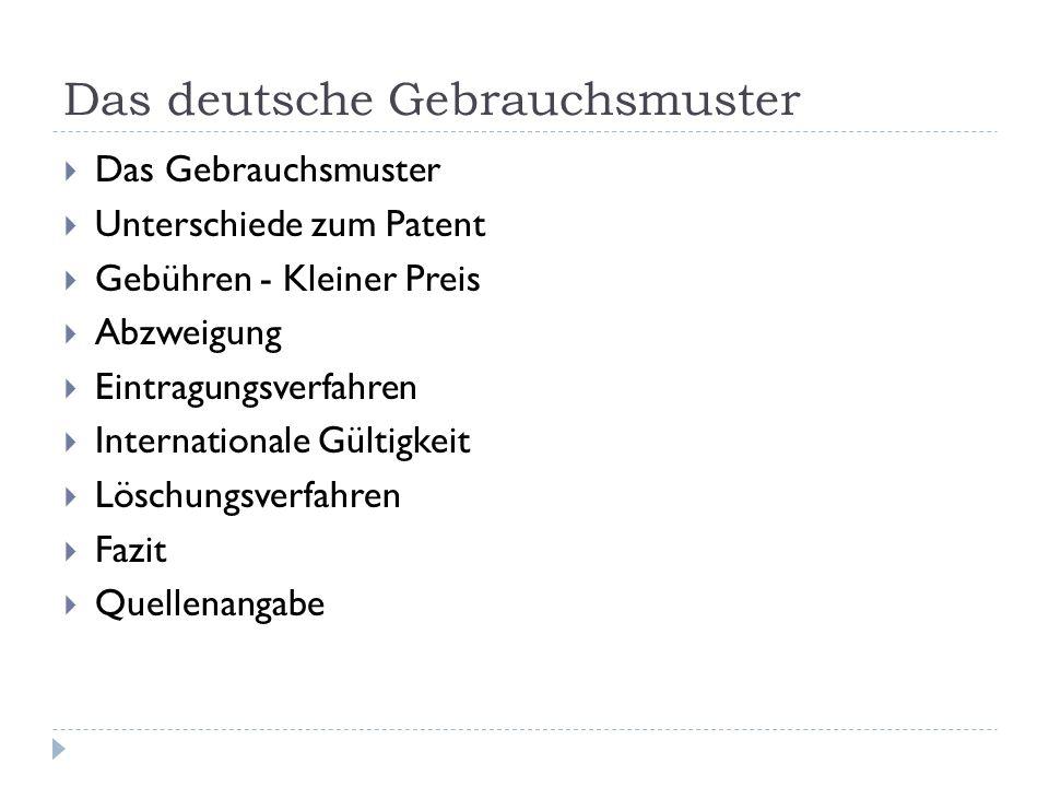 Das deutsche Gebrauchsmuster
