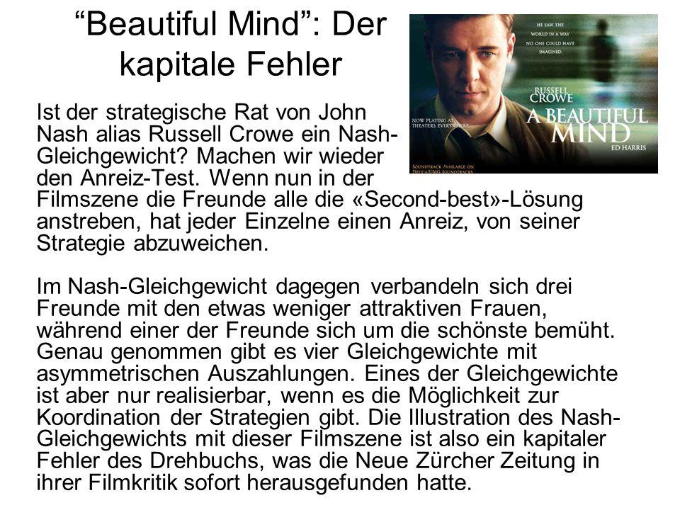 Beautiful Mind : Der kapitale Fehler