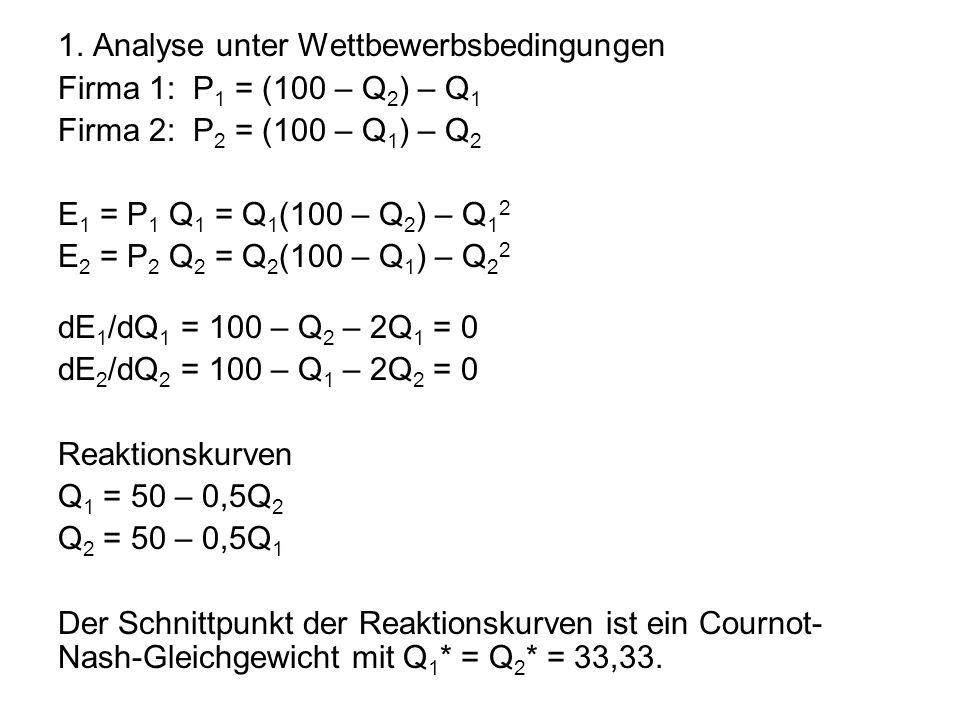 1. Analyse unter Wettbewerbsbedingungen