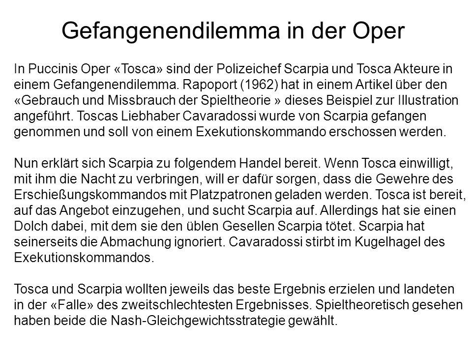 Gefangenendilemma in der Oper