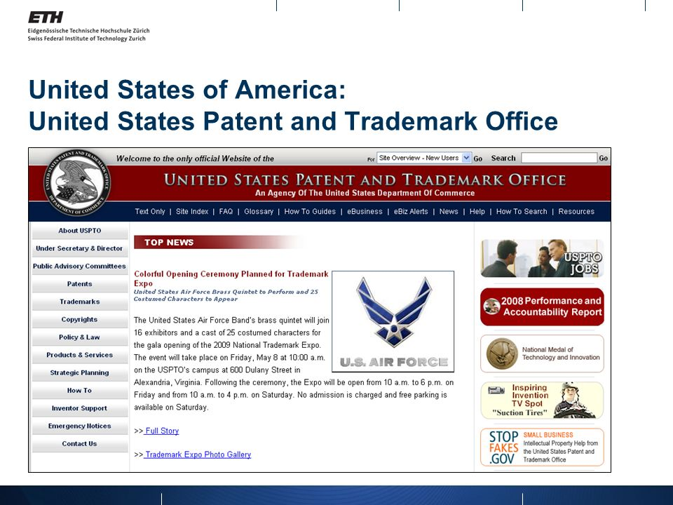 United States of America: United States Patent and Trademark Office