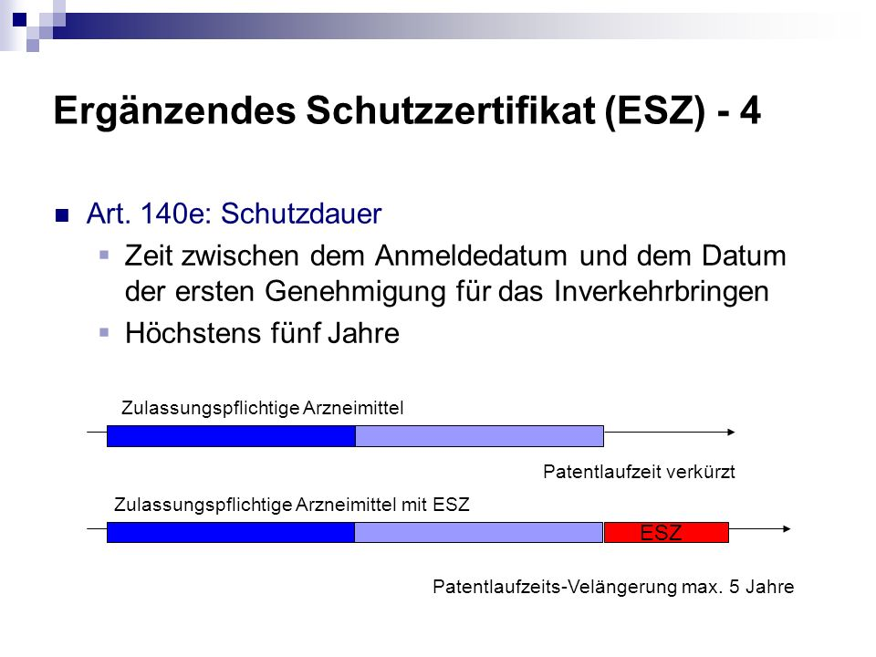 Ergänzendes Schutzzertifikat (ESZ) - 4