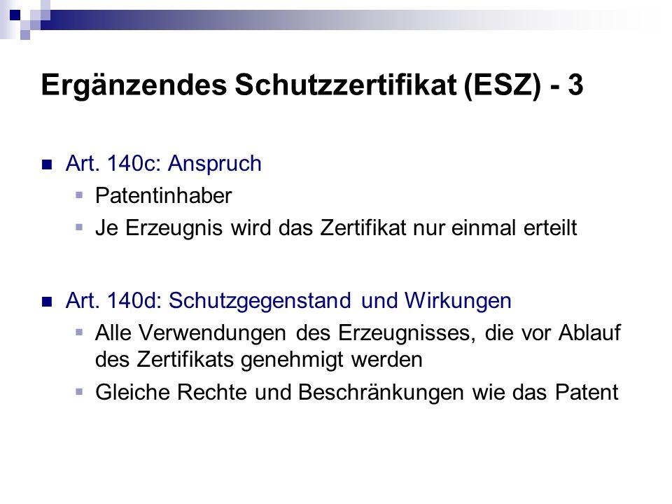 Ergänzendes Schutzzertifikat (ESZ) - 3