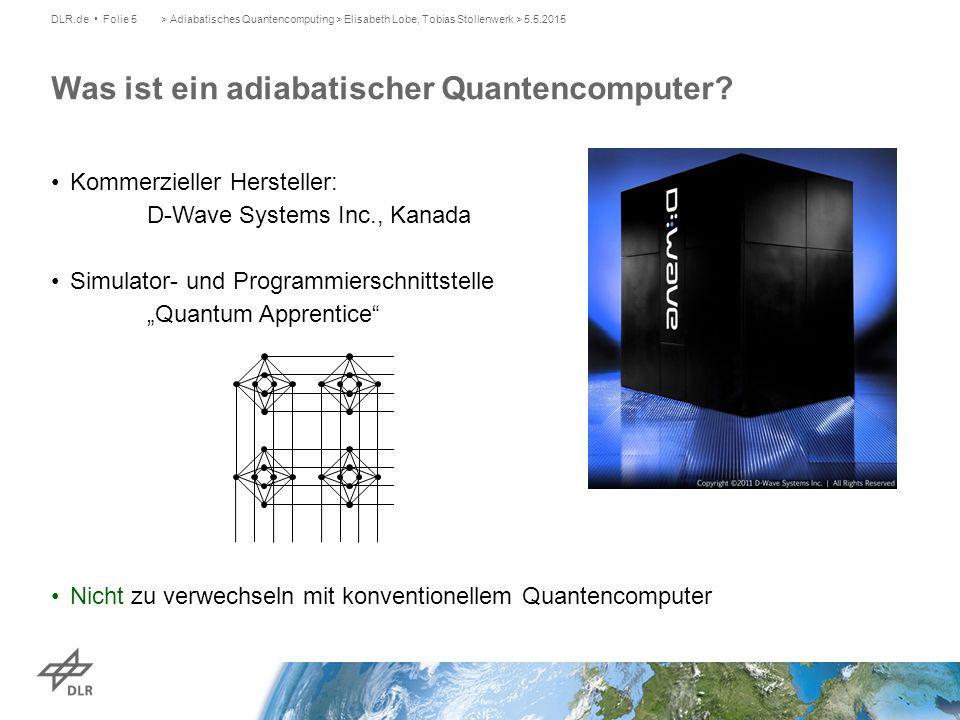 Was ist ein adiabatischer Quantencomputer