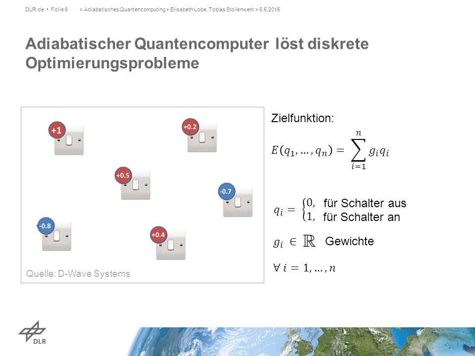Adiabatischer Quantencomputer löst diskrete Optimierungsprobleme