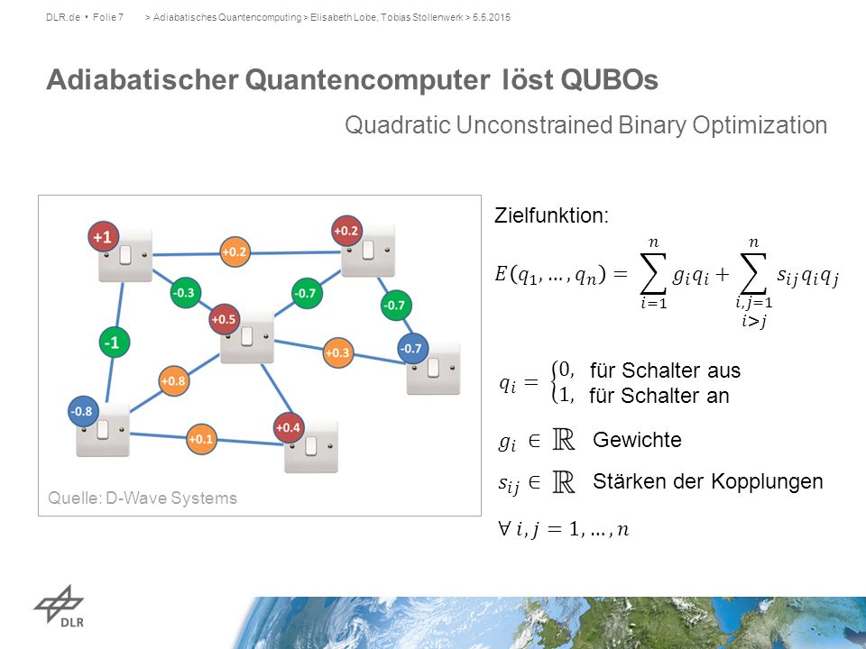 Adiabatischer Quantencomputer löst QUBOs