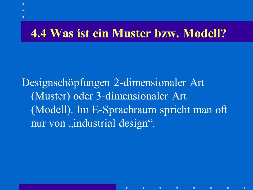 4.4 Was ist ein Muster bzw. Modell