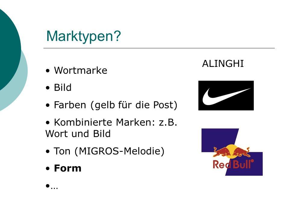 Marktypen ALINGHI Wortmarke Bild Farben (gelb für die Post)