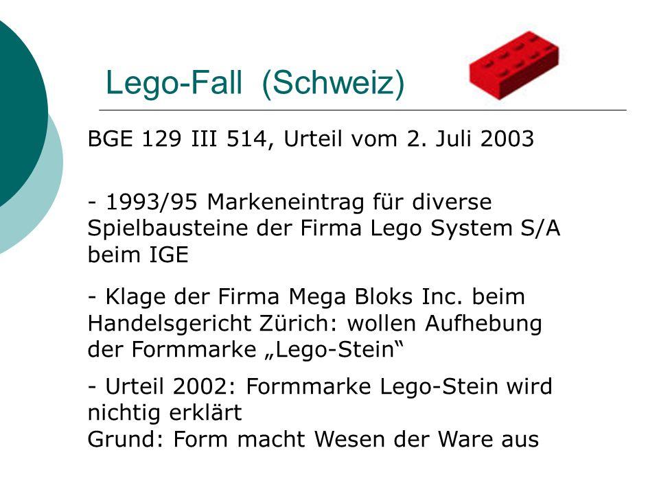 Lego-Fall (Schweiz) BGE 129 III 514, Urteil vom 2. Juli 2003