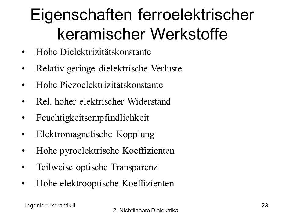 Eigenschaften ferroelektrischer keramischer Werkstoffe