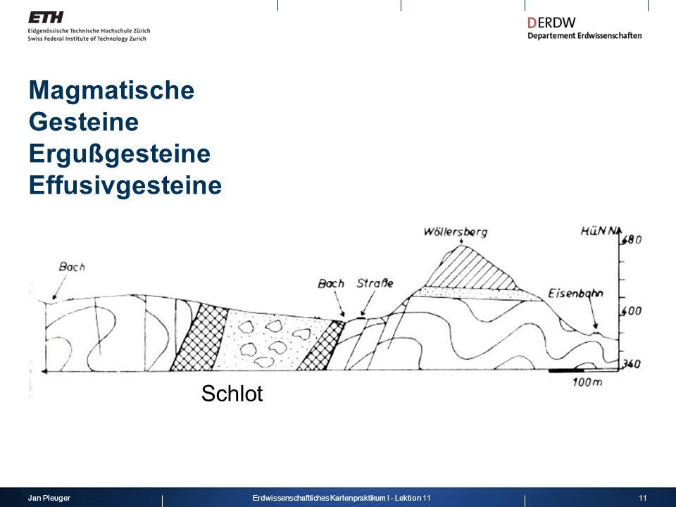 Magmatische Gesteine Ergußgesteine Effusivgesteine