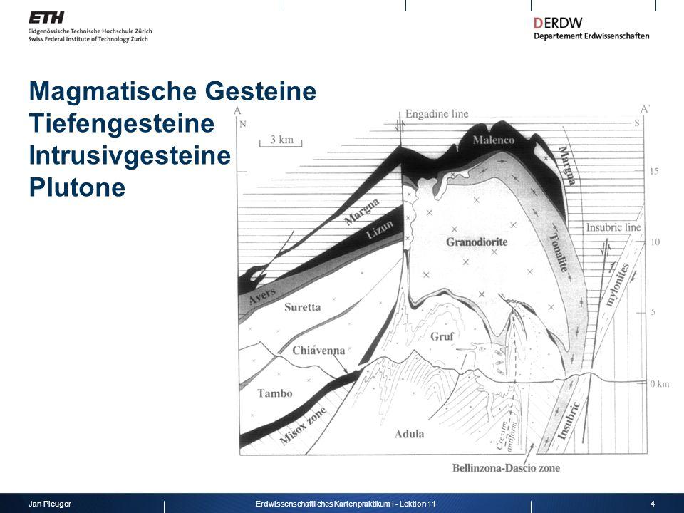 Magmatische Gesteine Tiefengesteine Intrusivgesteine Plutone