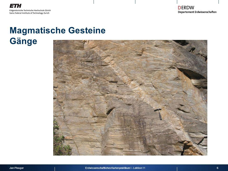 Magmatische Gesteine Gänge