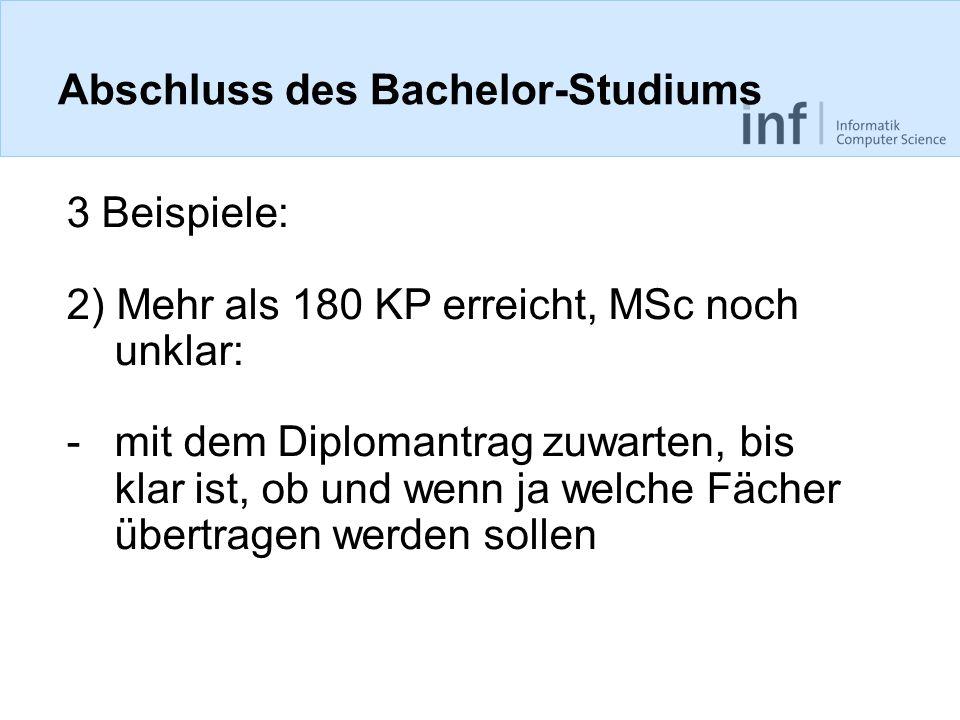 Abschluss des Bachelor-Studiums