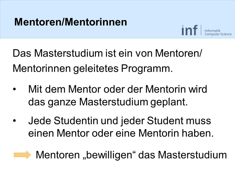 Mentoren/Mentorinnen
