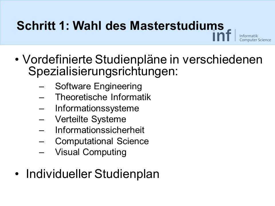 Schritt 1: Wahl des Masterstudiums