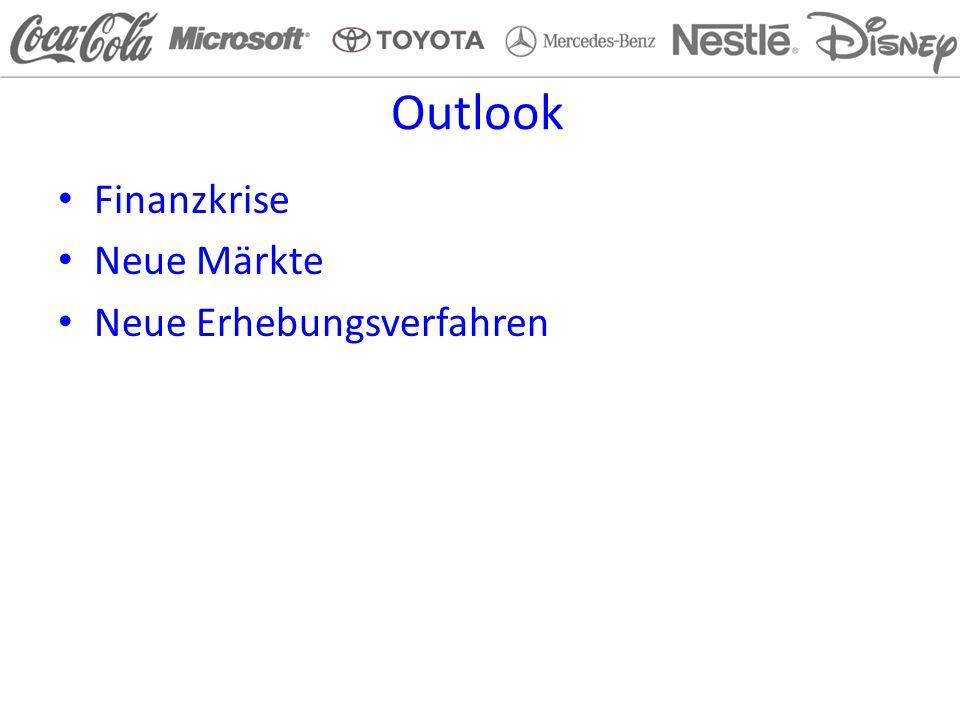 Outlook Finanzkrise Neue Märkte Neue Erhebungsverfahren