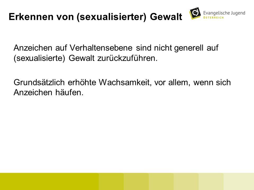 Erkennen von (sexualisierter) Gewalt