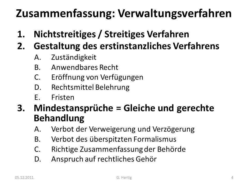 Zusammenfassung: Verwaltungsverfahren