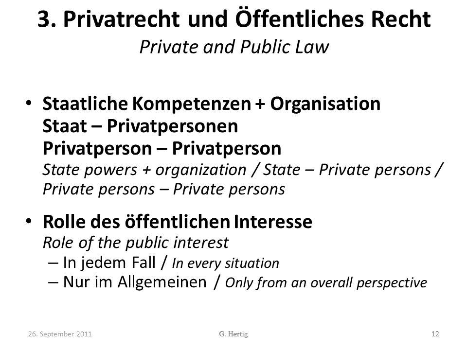 3. Privatrecht und Öffentliches Recht Private and Public Law