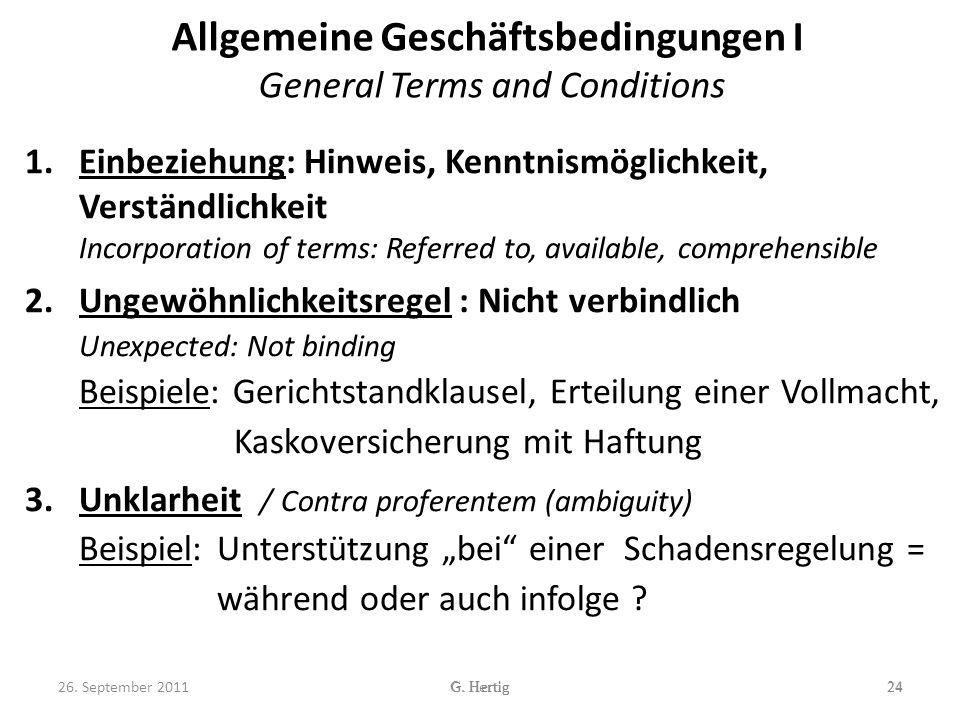 Allgemeine Geschäftsbedingungen I General Terms and Conditions