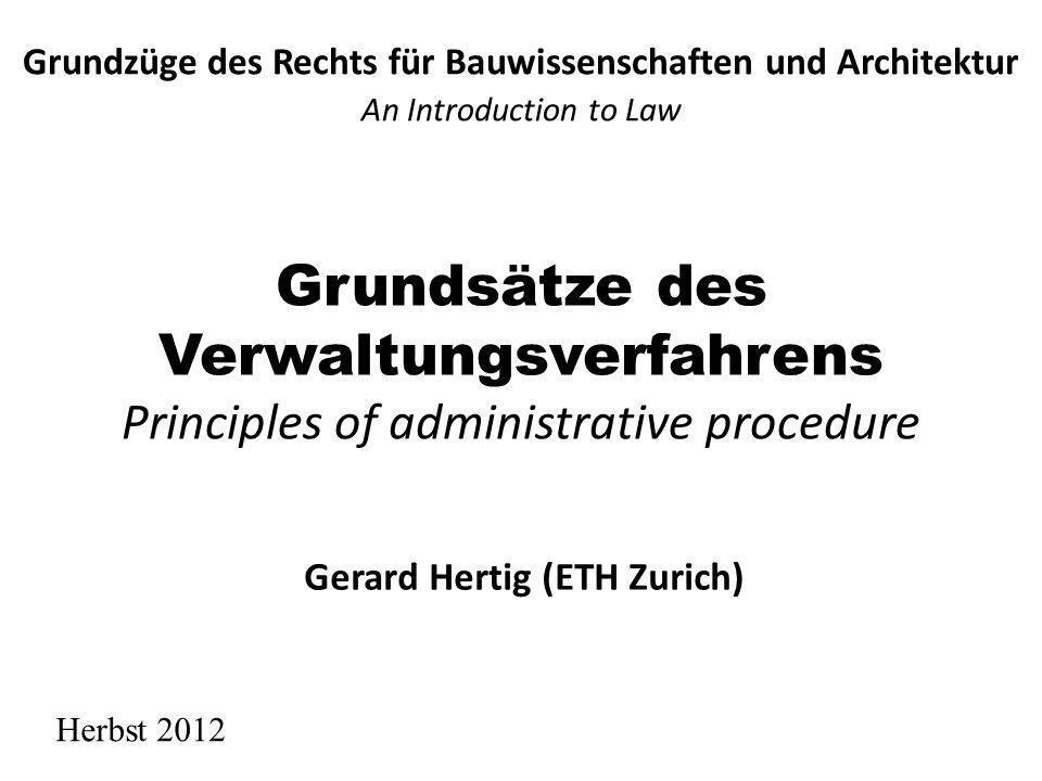 Grundzüge des Rechts für Bauwissenschaften und Architektur