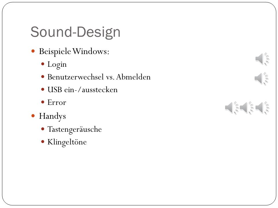 Sound-Design Beispiele Windows: Handys Login