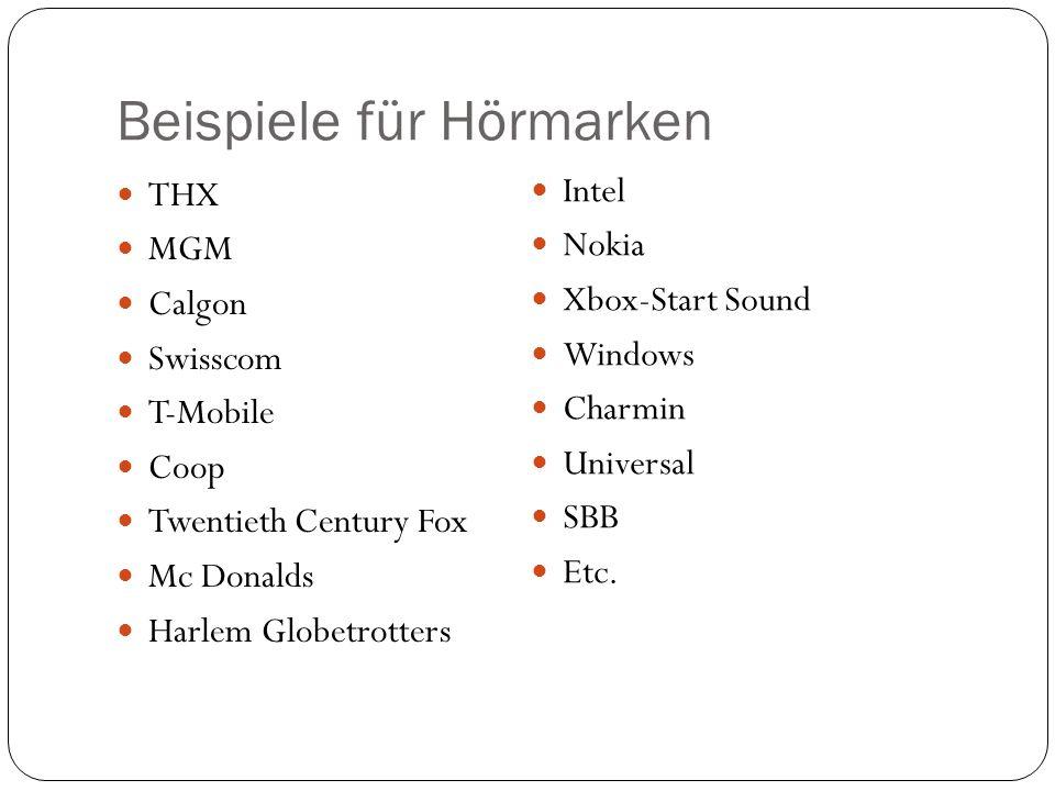 Beispiele für Hörmarken