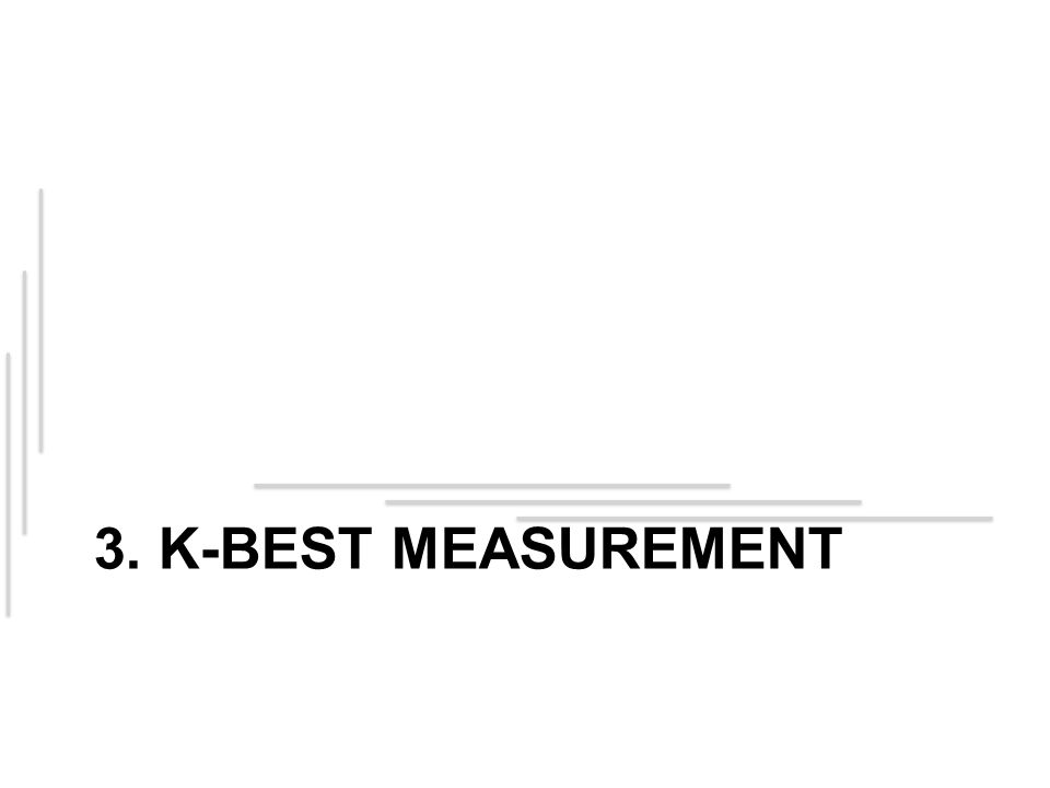 3. K-Best Measurement