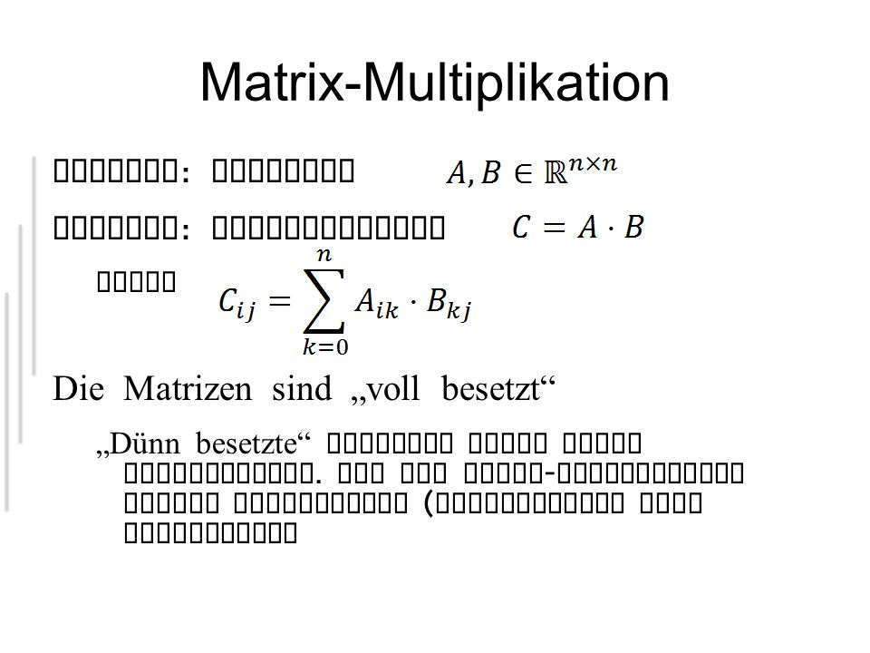 Matrix-Multiplikation