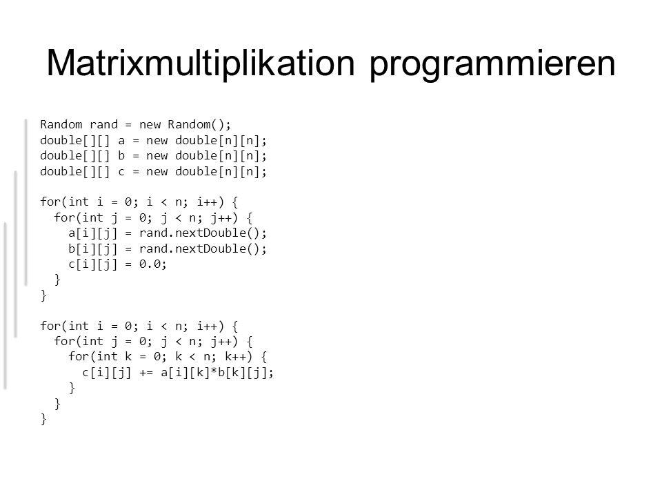 Matrixmultiplikation programmieren