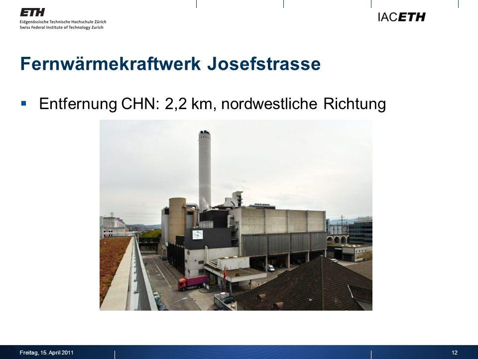 Fernwärmekraftwerk Josefstrasse