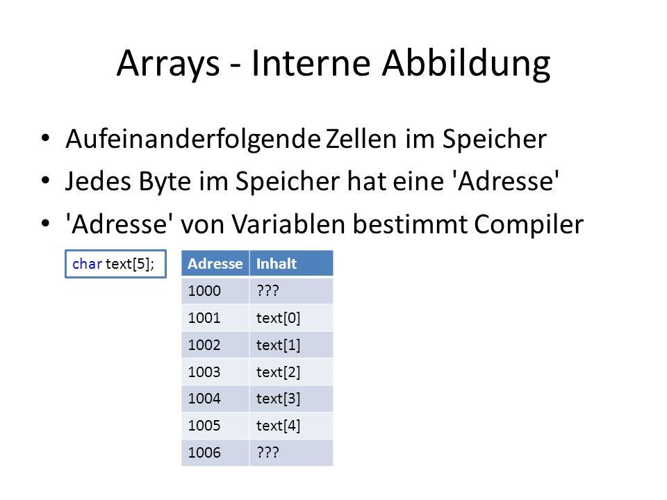 Arrays - Interne Abbildung
