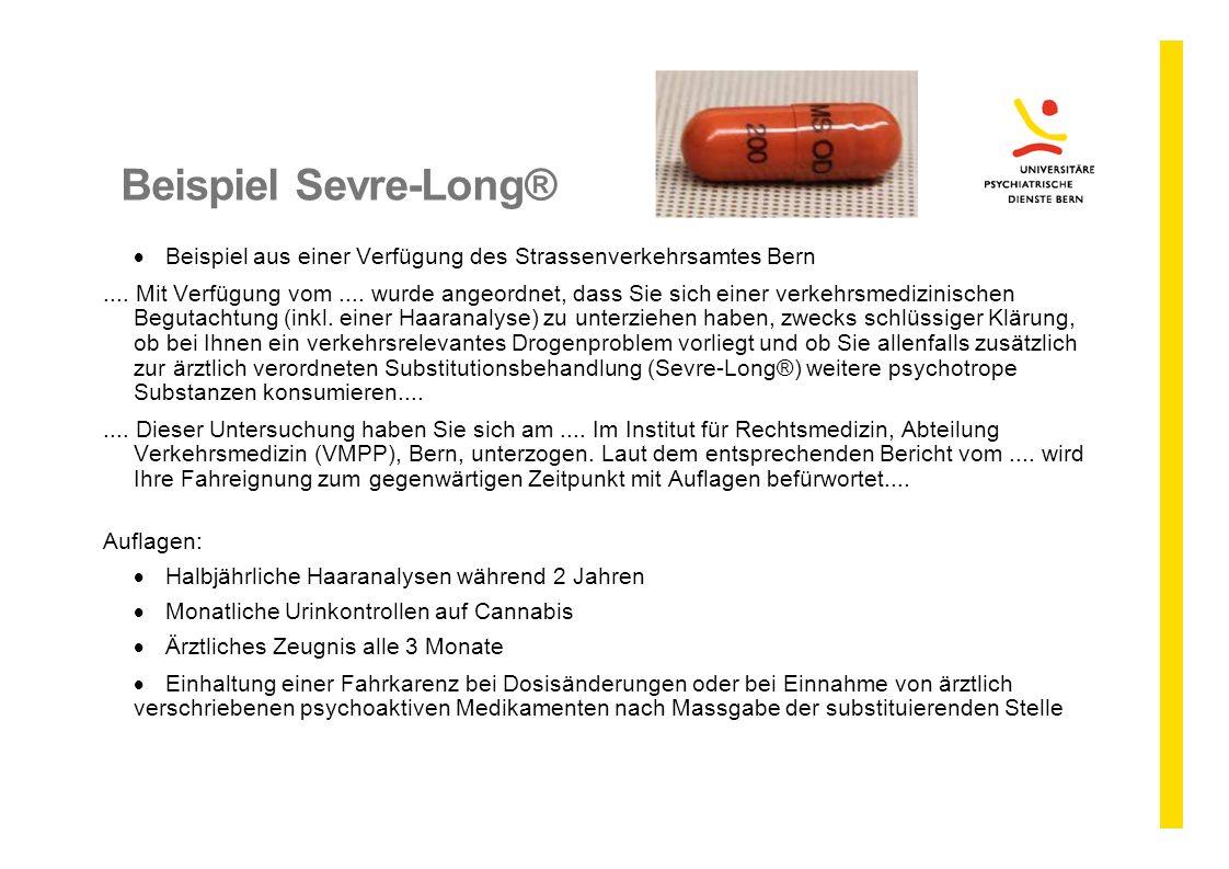 Beispiel Sevre-Long® Beispiel aus einer Verfügung des Strassenverkehrsamtes Bern.