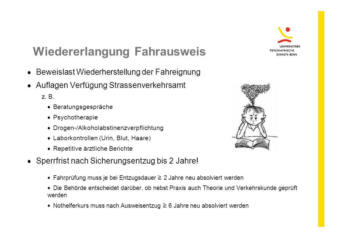 Wiedererlangung Fahrausweis