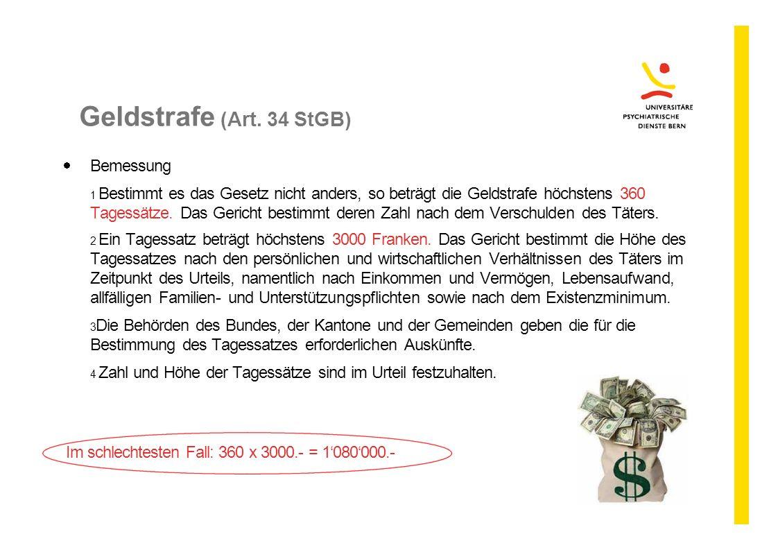 Geldstrafe (Art. 34 StGB) Bemessung